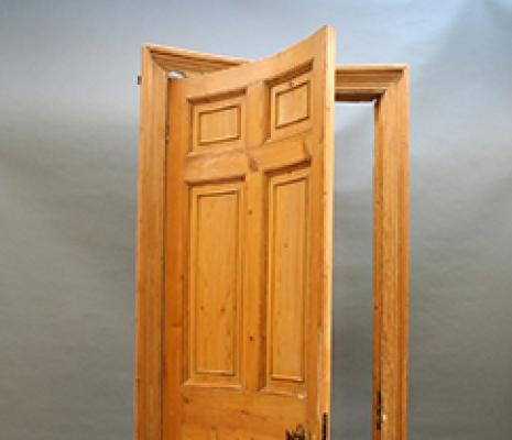 Concave door
